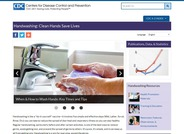 This page on the Center for Disease Control website features publications, data, and statistics about the importance of handwashing.