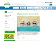 Three Tips for Healthy Summer Smiles