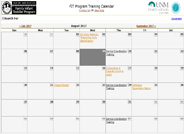 FIT Training Calendar