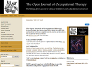 Open Journal of Occupational Therapy