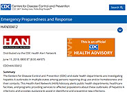 CDC Official Health Advisory - Outbreak of Hepatitis A Virus Infections