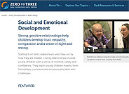 Zero to Three - Social and Emotional Development