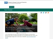 CDC official heart disease webpage