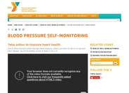 YMCA Blood Pressure Self-Monitoring