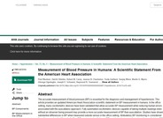 Measurement of Blood Pressure in Humans: A Scientific Statement from the American Heart Association
