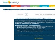 HealtheKnowledge Online Learning