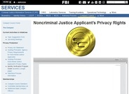 Noncriminal Justice Applicant's Privacy Rights
