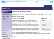 Guidance for the Prevention and Control of Influenza in the Peri- and Postpartum Settings