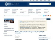 National Incident Management System, an introduction