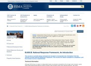 National Response Framework, an Introduction