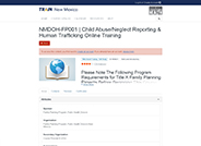 Child Abuse/Neglect Reporting & Human Trafficking Online Training