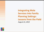 Integrating Male Family Planning Services