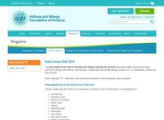 State Honor Roll of Asthma and Allergy Policies for Schools
